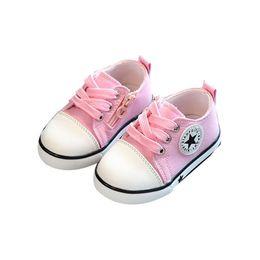 meias de borracha de borracha atacado Desconto Novos Sapatos de Bebê Respirável Sapatas de Lona 1-3 Anos de Idade Meninos Sapatos de 4 Cores Confortáveis Meninas Bebê Sapatilhas Crianças Sapato Da Criança # 39