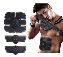Wholesale Hot Muscle Bodies - Hot Smart EMS Wireless Electric Massager Abdominal Muscle Toner ABS Fit Muscle Stimulator Abdominal Muscles Trainer