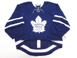 Wholesale Ice Hockey Goalie Jersey - Cheap Custom TORONTO MAPLE LEAFS AUTHENTIC NEW HOME EDGE JERSEY GOALIE CUT 60 Mens Stitched Personalized hockey Jerseys