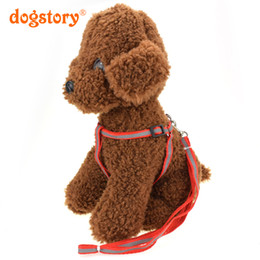 Wholesale Reflective Dog Harnesses - Adjustable Nylon Reflective Stitching Dog Harness For Small Medium Large Pet Dog Harnesses Chest Strap 4 Colors Traction Rope