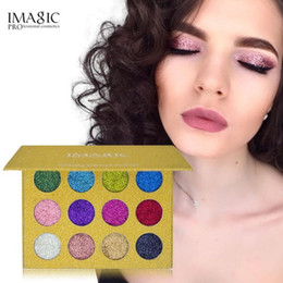 Wholesale natural eye drops - Drop shipping IMAGIC Glitter Injections Pressed Glitters Single Eyeshadow Diamond Rainbow Make Up Cosmetic Eye shadow Magnet Palette