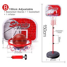 giochi di pallacanestro giocattoli Sconti Canestro da basket Set regolabile in altezza Attività Sport Gioco Toy Basket Stand Portaoggetti Rack per bambini Attrezzature per il fitness per bambini