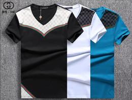 Wholesale mens plus size polo - 2018 Wholesale clothing polo Men's T-Shirts Full screen tiger printing hip hop clothing mens designer shirts plus size blue Khaki 998