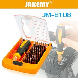 Wholesale Magnetic Iphone Tools - F23791 JAKEMY 38 in 1 Screwdriver Set Householder Precision Electronic Repairing Tools Magnetic Screwdriver Kit iPhone Laptop Tablet