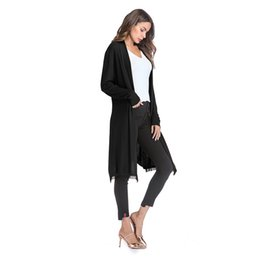 big size women cotton blouses Coupons - 2018 NEW Women Fashion Cotton Top Thin Blouse Long Sleeve Summer Cardigan Sweater Coat Big Size Flounce Plus Size