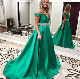 vestidos de graduación verde esmeralda Rebajas Fuera del hombro Satén Vestidos de baile Verde esmeralda Sin espalda Largo formal Vacaciones Desgaste Graduación Vestido de fiesta por la noche por encargo más tamaño
