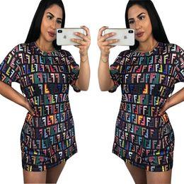Camisas dropshipping online-2018 nuevas mujeres de la manera se viste personalizada bloque ruso camiseta impresa camiseta mini vestidos gratis Dropshipping