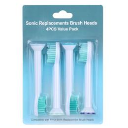 Teste di ricambio per sonicare online-Testine spazzolino elettrico compatibili HX6014 6064 Soft Brush Heads per Philips Sonicare Testine di ricambio portatili Mini Brush head
