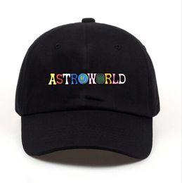 Tapa de tamaño libre online-ASTROWORLD Travis Scotts Diseñador de Sombreros Cartas Bordados Hip Hop Ball Caps Hombres Mujeres Sombreros Tamaño libre