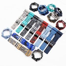 sangle de résine Promotion Accessoires de montre pour hommes avec bracelet en résine de camouflage pour lanière à boucle ardillon pour bracelet de montre pour hommes GD120GA100GA110GA100