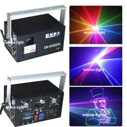 Wholesale Dj Laser Light 3d - Newly upgraded Best quality 2 watt rgb laser 3d rgb laser 2w dj lights dmx+ilda+sd+2d+3d multi color