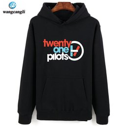 2020 hoodie liso e fino de lã 2017 homens / mulheres 21 pilotos imprimir sportswear moletons masculinos hip hop velo manga comprida com capuz magro fit camisola hoodies homens desconto hoodie liso e fino de lã