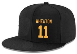 Wholesale custom flat caps - Snapback Hats Custom any Player Name Number #11 Wheaton #36 Bettis hats Customized ALL Team caps Accept Made Flat Embroidery Logo Name
