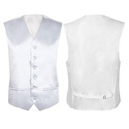 Wholesale Wholesale Men S Waistcoats - Wholesale- IMC Mens Wedding Waistcoat Groom (Ivory white L UK 40)