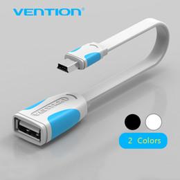 otg cabo mini Desconto Venção Mini USB 2.0 Cabo OTG Mini Adaptador de Cabo de Dados USB Otg 10 cm / 25 cm masculino para feminino para Tablet PC / MP3 / Celular / GPS