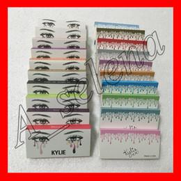 Wholesale Long Black Hair - kylie False Eyelashes 20 models Eyelash Extensions handmade Fake Lashes Voluminous Fake Eyelashes For Eye Lashes Makeup