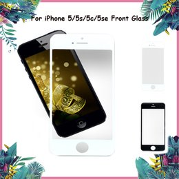 Wholesale iphone front cover replacement - Best Quality Front Outer Glass Lens For iPhone 5 5S 5SE 5C Touch Screen Cover Replacement Black & White Color Front Glass Panel