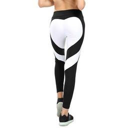 Colorati collant da corsa online-Leggings per donna a forma di cuore Yoga colorato Pantaloni Crossfit Calzamaglia Fitness donna Running Jeggings Pantaloni da palestra Legging Sport Leggins Sportwear