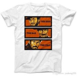 criar bom Desconto Criar Camiseta Homens Tripulação Pescoço Manga Curta  Escritório O Bom O Mau Tee 75bdce136e085