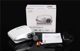 sistema de jogos de video por atacado Desconto NOVA Projetor Mini LED Projetor 4 K TV Chip de Dupla Porta HDMI Interface USB SD Interface de TV Analógica 1080 P Full HD DHL Livre