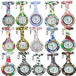 Wholesale hanging pocket watch - 53 colors Round Clip Silicone Nurse Rubber Pocket FOB Watches Men Women Docter Hanging Medical Watch DHL Free Shipping High Quality Gifts