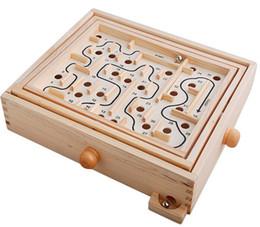 Игровые пасьянсы онлайн-Новая деревянная игрушка рука интеллектуальный лабиринт пасьянс мастерство премьер издание земли металлический лабиринт