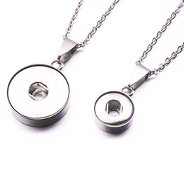 slide snap button Coupons - Noosa chunks Stainless Steel Snap Button Pendants Necklace Fit 12MM 18MM Snap Buttons DIY Jewelry
