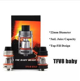 2019 bobina q2 TFV8 Baby Tank The Baby Beast 3mL con V8 Baby Q2 X4 Reemplazo doble bobinas Sistema de flujo de aire ajustable Top Atomizador de llenado envío gratis rebajas bobina q2