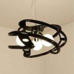 Modern polyresin vermelho preto branco cor pingente luzes E27 lâmpada LED lâmpadas penduradas pendurado luminária para sala de jantar quarto de