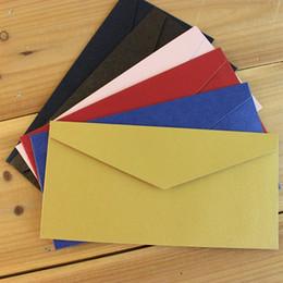 Sobres de colores online-Sobres de colores 110x220mm envolvente 250GMS Invitación de negocios de gama alta Sobre decorativo 100PCS