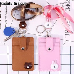 8e0f3300b4 Hello Kitty Doraemon Sally Bear Stitch Cartoon Card Holder Neck Wallet  Leather Keychain Women Key Chains Car Bag Pendent D57 discount hello kitty  bag wallet