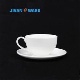 JIVANWARE European White Bone China Keramik Kaffeetasse Haushalt Freizeit  Runde Geformte Kaffeetasse Geschirr Set Großhandel Erhältlich