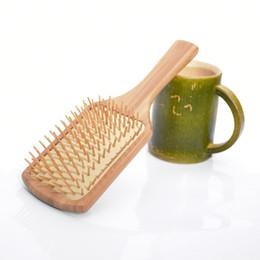 Wholesale Bamboo Hair Comb - Fashion Wooden hair brush Air bag massage Bamboo hair comb anti-static brush comb S22D5