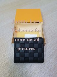 Wholesale slim slender slimming - SLENDER WALLET High quality Classical short wallet suitably compact and slim Luxury men day clutch credit card holder card over purse