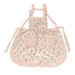 aprons flowers Coupons - Stylish Rose Flower Pattern Women's Chefs Cooking Cook Apron Bib with Pockets