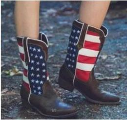 Botte à talon bas noir en Ligne-avec Box 2018 Chaussures pour femmes Knight Bottines en cuir Botte d'hiver marron noir pour femmes Designers de mode Pull On Low Heel Shoe