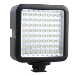 Luces de camcorder led online-Godox LED 64 camera camera lights Video Lamp Light para cámara digital Videocámara DV