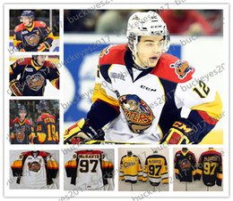 Ryan strome онлайн-OHL Эри выдры #9 Райан О'Рейли 16 Брэд Бойс 18 Винс Скотт 19 Дилан Стром сшитые темно-синий желтый белый хоккейные майки S-4XL