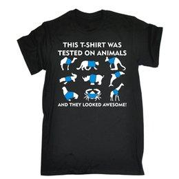 Getestet an Tieren sie sahen ehrfürchtiges T-Shirt aus Lustiges Slogan-T-Stück Geschenk-Geburtstags-cooles zufälliges Stolz-T-Shirt Männer Unisex neue Art und Weise von Fabrikanten