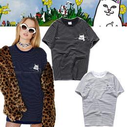 e885ce56dcb3e 2018 el más nuevo Ripndip Barato patrón de la raya de manga corta yeezus  monopatín hip hop amantes de la camisa de la ropa