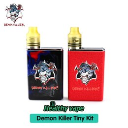 Wholesale Red Blue Deck - 100% Original Demon Killer Tiny Kit 800mAh Battery Body with Tiny RDA 510 Connector Build Deck