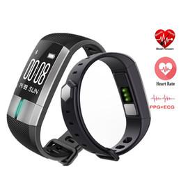 Relógio de pulso de saúde inteligente on-line-ECG Monitor de Fitness Rastreador Sports Banda Atividade Pulseira Monitor de Freqüência Cardíaca Medidor de Pulso Saúde Rastreador Inteligente Relógios