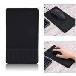 Mouse pad suave on-line-Tapete de Rato Anti-slip Silicone Gaming Mouse Pad com Gel Macia Descanso de Pulso Mouse Pad Preto Universal para Computador Portátil Netbook