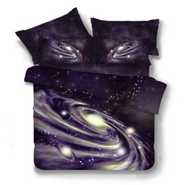 Wholesale Baby Outer - 2017 New 4 2 3pcs Galaxy 3D Bedding Sets Universe Outer Space Duvet cover Bed Sheet   Fitted Bed Sheet pillowcase Twin queen