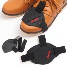 palanca de cambios de motocicleta Rebajas Cubierta protectora antideslizante del zapato usable para la motocicleta Shifter Negro portátil de arranque zapatos de protección Guard Motor piezas