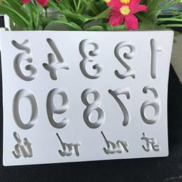 2019 cisne de fondant Número da letra do alfabeto Silicone Mold Candy Clay Moldes Glacê De Gelo Guloseimas de Chocolate Fondant Moldes Ferramentas de Decoração Do Bolo