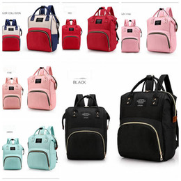 2019 designer fralda sacos para Fralda Maternidade Mochilas Fraldas Mommy Bags INS Stroller Bag Marca Grande Capacidade Bolsa de Designer De Enfermagem Sacos de Viagem 6 Cores YL425 desconto designer fralda sacos para