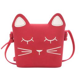 Schöne Mädchen Messenger Bags Katze Mini PU Taschen Prinzessin Stil Kinder Geldbörsen von Fabrikanten