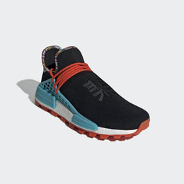 bf4e4b03d New Authentic Release Pharrell Williams x NMD Hu Inspiration Pack Running  Shoes Black Blue Orange Sports Sneakers With Originals Box EE7582