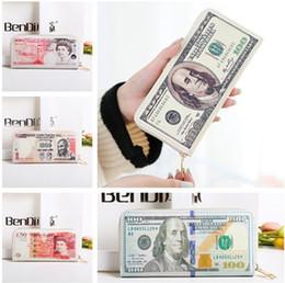 долларовые банкноты Скидка Евро доллар США шаблон длинный стиль кошельки искусственная кожа деньги валюта отмечает шикарный кошелек слот для карты держатель молнии бумажник чехол для студентов подарки